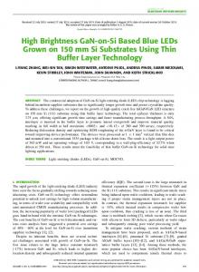High Brightness GaN-on-Si Based Blue LEDs Grown on ... - IEEE Xplore
