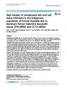 High burden of complicated skin and soft tissue ... - Springer Link