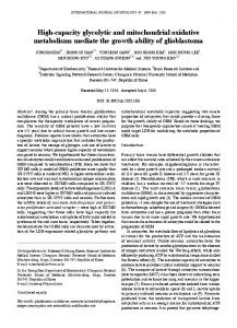 High-capacity glycolytic and mitochondrial ... - Semantic Scholar