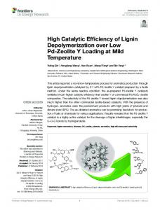 High Catalytic Efficiency of Lignin