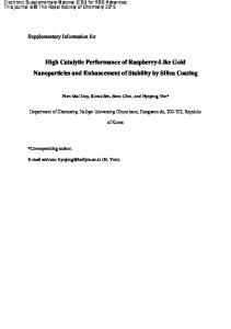 High Catalytic Performance of Raspberry-Like Gold Nanoparticles and ...