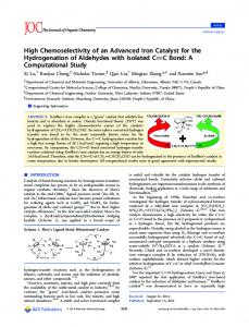 High Chemoselectivity of an Advanced Iron Catalyst for the