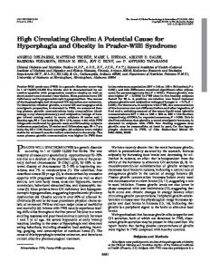 High Circulating Ghrelin: A Potential Cause for Hyperphagia and ...