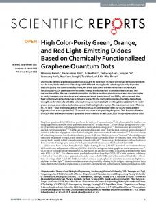 High Color-Purity Green, Orange, and Red Light-Emitting Didoes ...