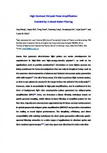 High-Contrast Chirped-Pulse Amplification Enabled by In-Band ... - arXiv