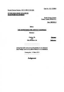 High Court Judgment Template - One Brick Court