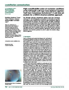 High crystallizability under air-exclusion conditions ... - Semantic Scholar