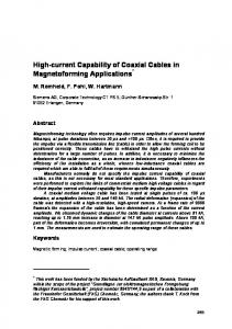High-current Capability of Coaxial Cables in ... - Eldorado Dortmund