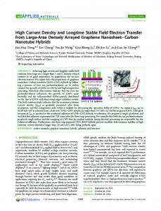 High Current Density and Longtime Stable Field Electron Transfer ...