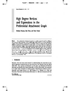 High Degree Vertices and Eigenvalues in the
