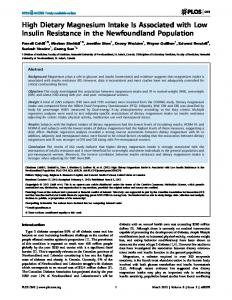 High Dietary Magnesium Intake Is Associated with ... - Semantic Scholar