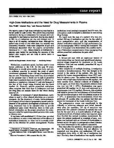 High-Dose Methadone and the Need for Drug ... - Clinical Chemistry