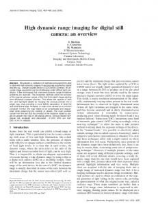 High dynamic range imaging for digital still camera: an overview