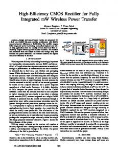 High-Efficiency CMOS Rectifier for Fully Integrated ... - Semantic Scholar