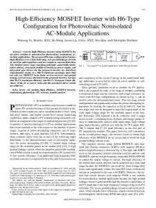 High-Efficiency MOSFET Inverter with H6-Type ... - IEEE Xplore