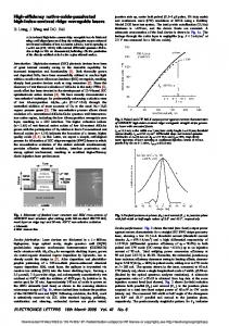 High-efficiency native-oxide-passivated high-index-contrast ridge ...