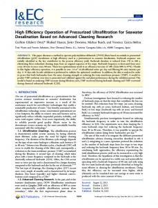 High Efficiency Operation of Pressurized ... - ACS Publications