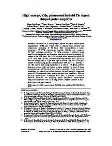 High-energy, kHz, picosecond hybrid Yb-doped chirped-pulse ... - pubdb