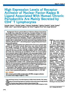 High Expression Levels of Receptor Activator of Nuclear Factor-Kappa ...