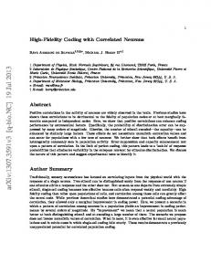 High-Fidelity Coding with Correlated Neurons