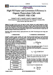 High Fill Factor and Conversion Efficiency in Organic ... - IJARCCE