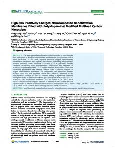 High-Flux Positively Charged Nanocomposite ... - ACS Publications