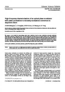 High-frequency characterization of an optical phase ... - Springer Link