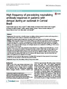 High frequency of pre-existing neutralizing antibody responses in ...