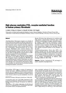 High glucose modulates P2X7 receptor-mediated ... - Springer Link