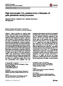 High heterotrophic CO2 emissions from a Malaysian oil ... - Springer Link