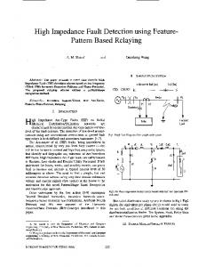 High impedance fault detection using feature-pattern ... - IEEE Xplore