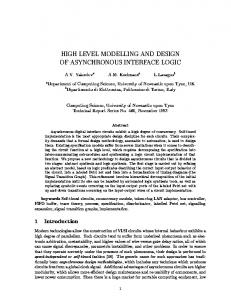 HIGH LEVEL MODELLING AND DESIGN OF