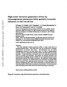 High-order harmonic generation driven by inhomogeneous ...