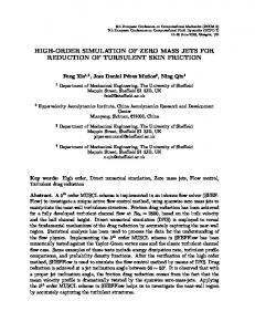high-order simulation of zero mass jets for ... - ECCM ECFD 2018