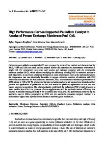 High Performance Carbon Supported Palladium Catalyst in Anodes of