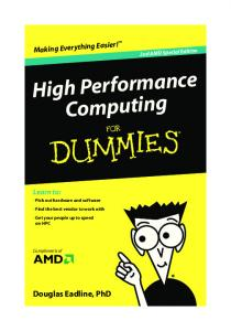 High Performance Computing For Dummies, 2nd AMD Special Edition