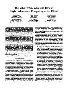 High Performance Computing - Parallel Programming Laboratory