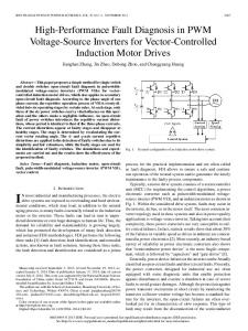High-Performance Fault Diagnosis in PWM Voltage ... - IEEE Xplore