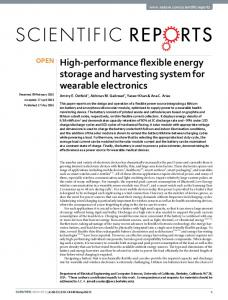 High-performance flexible energy storage and harvesting system for