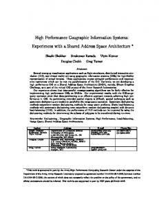High Performance Geographic Information Systems