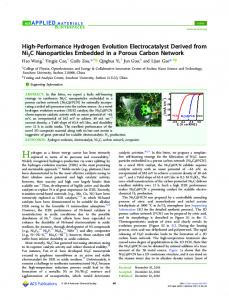 High-Performance Hydrogen Evolution ... - ACS Publications