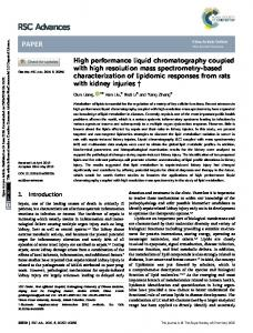 High performance liquid chromatography coupled
