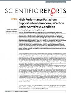 High Performance Palladium Supported on Nanoporous ... - Nature
