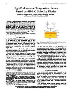 High-Performance Temperature Sensor Based on 4H-SiC Schottky ...