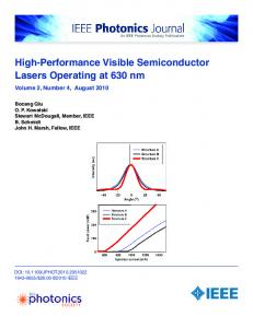 High-Performance Visible Semiconductor Lasers ... - IEEE Xplore