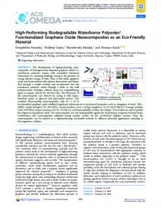 High-Performing Biodegradable Waterborne ... - ACS Publications