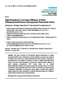 High Photoelectric Conversion Efficiency of Metal ... - MDPI