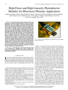 High-Power and High-Linearity Photodetector Modules for Microwave ...