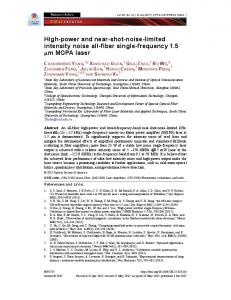 High-power and near-shot-noise-limited intensity ... - OSA Publishing