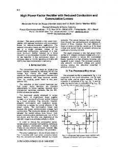 High power factor rectifier with reduced conduction and ... - Ivo Barbi